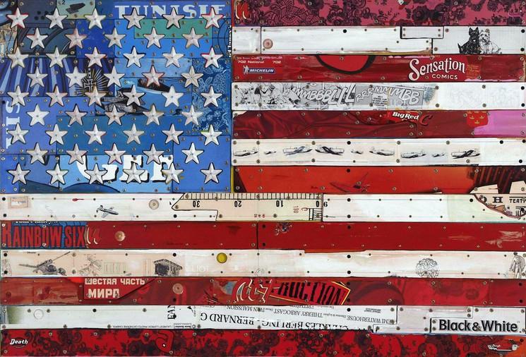 Drapeau Americain By Eric Liot 2014 Print Artsper 102850