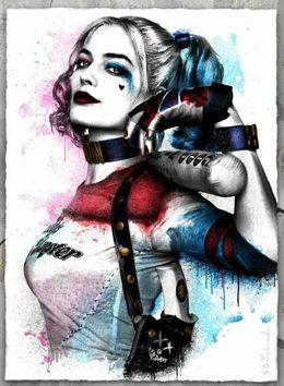 Harley Quinn Oil Painting on Wood