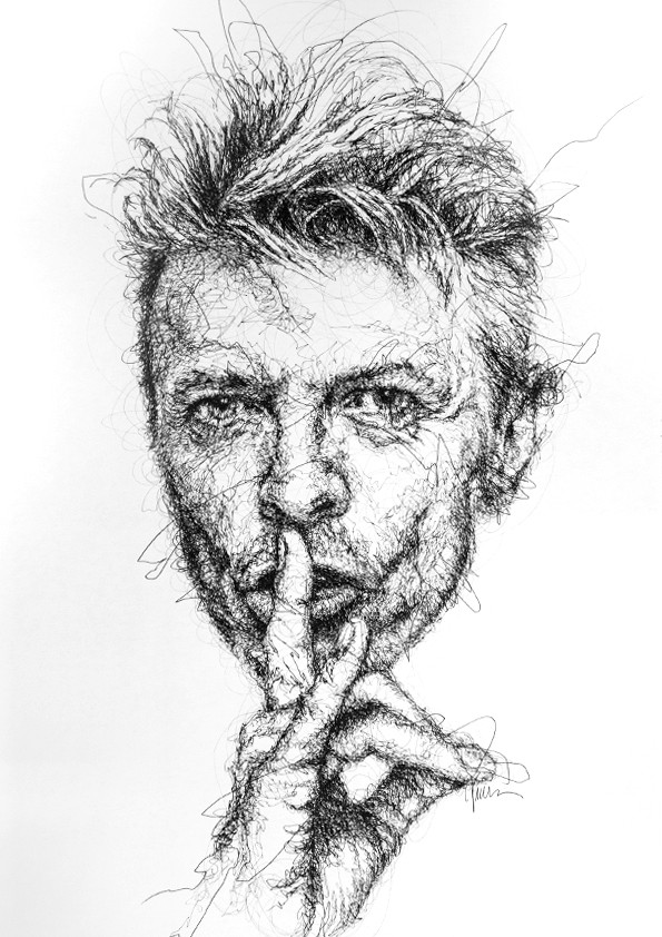 David Bowie par Vince Low, 2015 | Dessin | Artsper (180739)