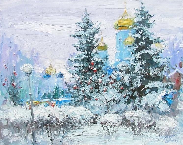 Sapins De Noel Par Yuriy Demiyanov 2017 Peinture Artsper 240664