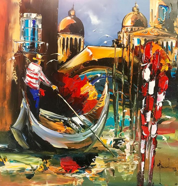 La Gondole A Venise Par Christof Monnin 2018 Peinture Artsper 285043