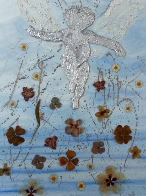 Gris ange avec Blue Spots