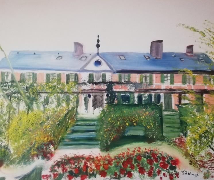La Maison Du Peintre Claude Monet A Giverny By Fabienne Bonneau Fablues 2019 Painting Artsper 617865