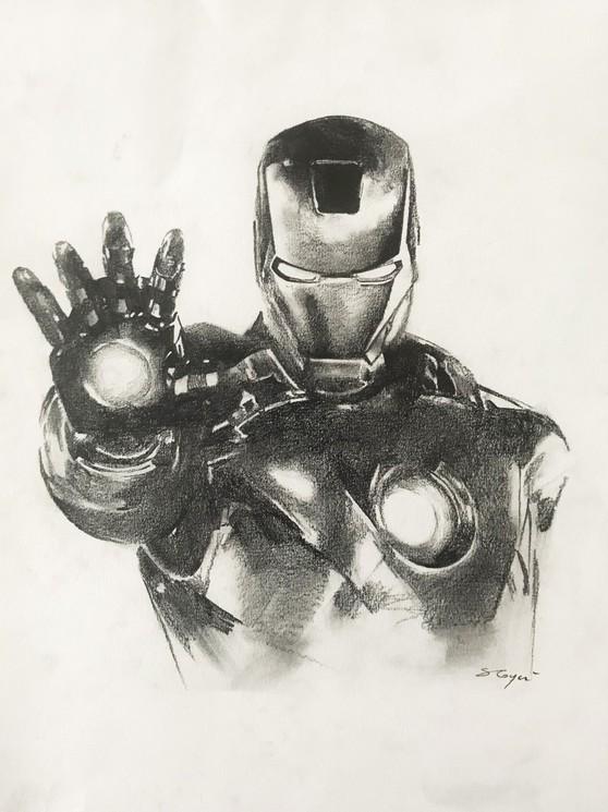 Iron Man By Sandrine Royer 2019 Fine Art Drawings Artsper 624564