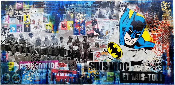 Batman Collage Par Narome 2020 Peinture Artsper 669321