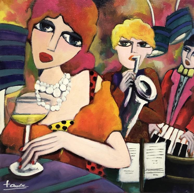 Champagne Et Musique Par Martine Fauve Dechavanne 2019 Peinture Artsper 671658