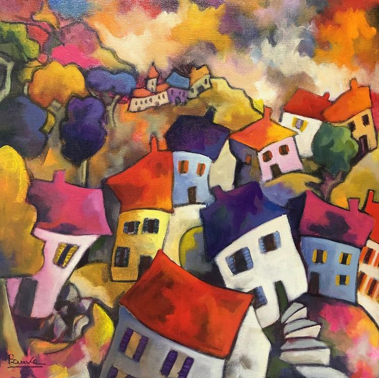 La Haut Sur La Montagne Par Martine Fauve Dechavanne 2019 Peinture Artsper 671691