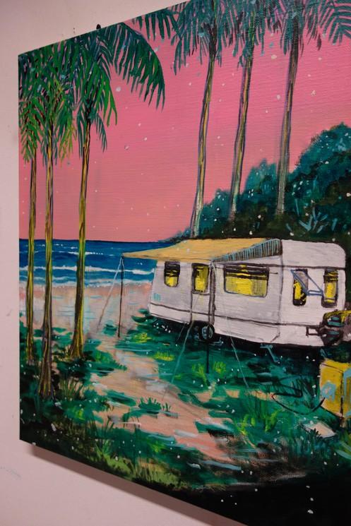 Caravan Paradise Iv By Peter De Boer 2020 Painting Artsper 678006