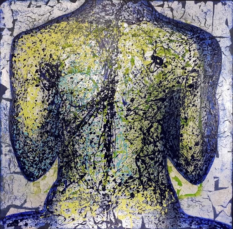 Hommage A Pollock Par Corine Lescop 2015 Peinture Artsper 700569