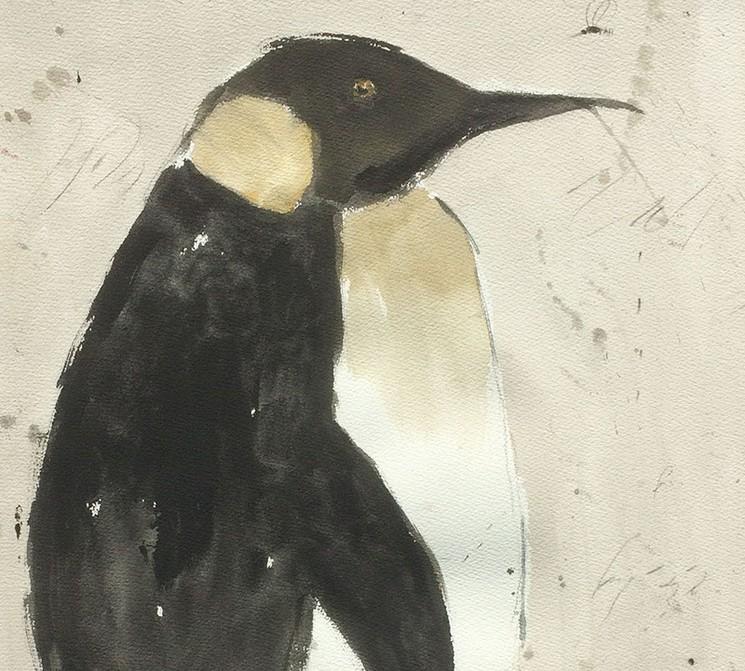 Grand Pingouin Par Alexis Gorodine 2014 Peinture Artsper 714108