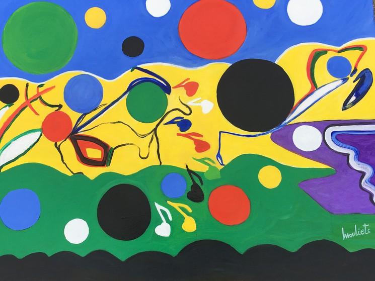 CANVAS OR PRINT WALL ART La Joie De Vivre Picasso