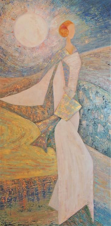 Femme Cigale Claire De Lune Par Stephanie Durand Lelong 2020 Peinture Artsper 849219