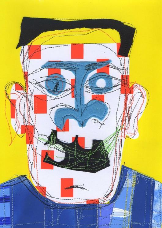 Collage art work Portrait 2020