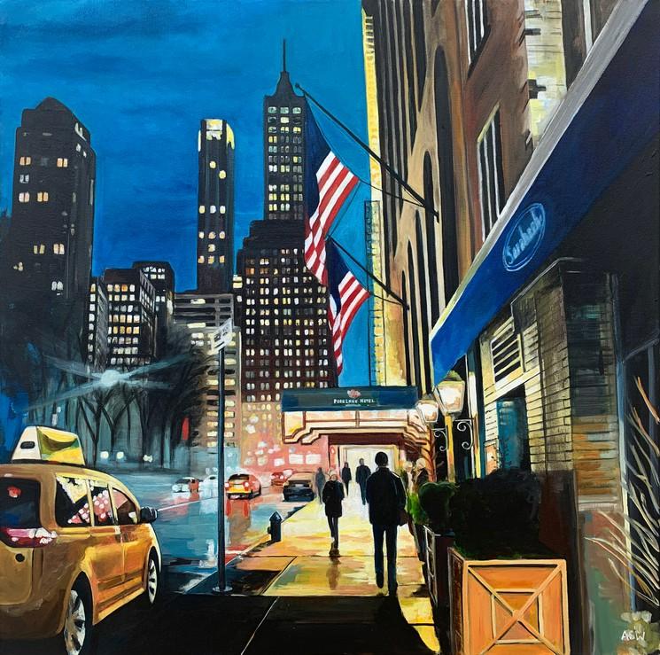 Park Lane Hotel Central Park New York City By Angela Wakefield 2020 Painting Artsper 871626
