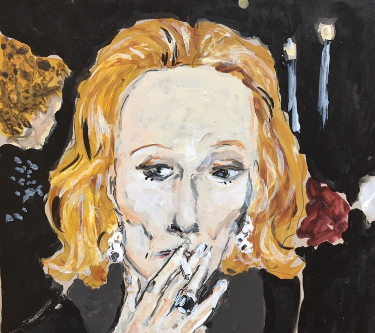 Nan Kempner Smoking By Manuel Santelices 2020 Painting Artsper 884511