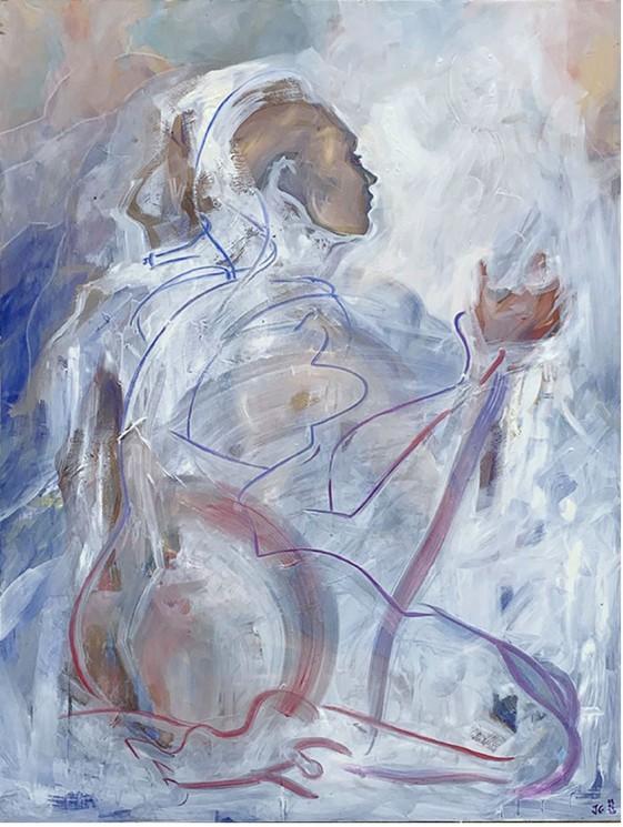 Mask V3 Par Juliette Guenard 2019 Peinture Artsper 941634